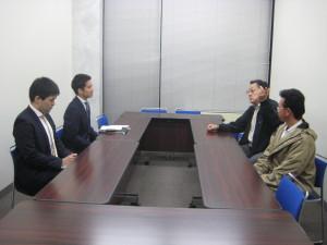 外務省での会談