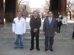 靖国神社神門前でのスナップ